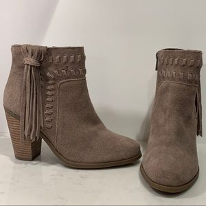 Jessica Simpson Suede Fringe Ankle Boots